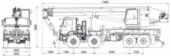 Аренда автокрана 32 тонны 31 метр КС-55729-1В на шасси Камаз