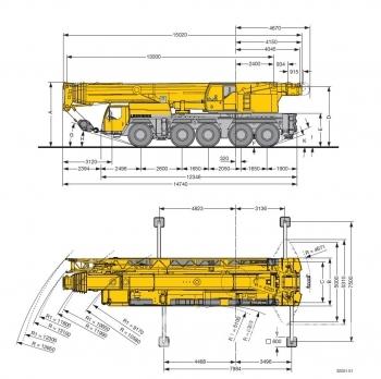 Аренда автокрана 160 тонн 62-74 метра LIEBHERR LTM-1160
